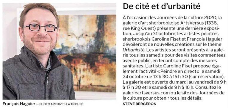 Article Presse La Tribune 17 octobre 2020